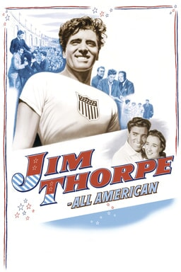 Jim Thorpe: All American - Burt Lancaster as Jim Thorpe collage images on white background
