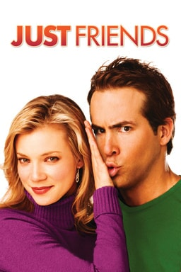Just Friends - Ryan Reynolds in green shirt and Amy Smart in purple sweater hand between