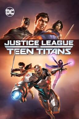 Justice League vs. Teen Titans - Key Art