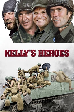 Kelly's Heroes - Four soldiers with a group of soldiers on an army tank