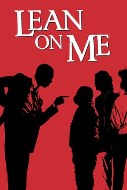Lean on Me - Red background with teacher pointing finger at students
