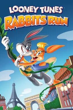Looney Tunes: Rabbit's Run - Bugs Bunny holding Lola Bunny on vine swinging through Paris
