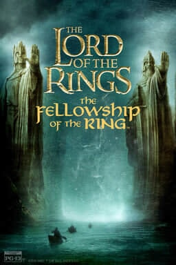 The Lord of the Rings: The Fellowship of the Ring - Two king statues with hands out and boats
