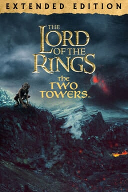 The Lord of The Rings: The Two Towers (Extended Edition) - Smeagol on rock with Mount Doom behind