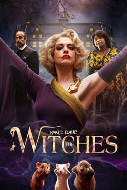 Roald Dahl's The Witches - Anne Hathaway, Stanley Tucci and Olivia Spencer with 3 mice in front