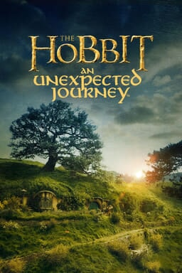 The Hobbit: An Unexpected Journey - The Hobbit town with Bilbo Baggins door on the front with sun