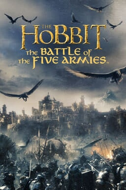 The Hobbit: The Battle of the Five Armies - A battle against orcs while eagles fly outside city