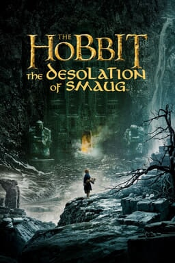 The Hobbit: The Desolation of Smaug - Bilbo standing on rocks in a mountain
