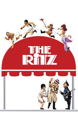 The Ritz - Beneath the lobby cover with people characters on top and three below