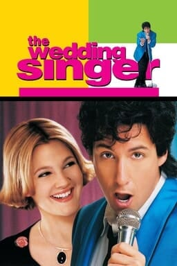 The Wedding Singer - Adam Sandler as Robbie Hart and Drew Barrymore as Julia Sullivan looking at him