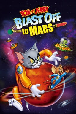 Tom and Jerry: Blast Off To Mars - Tom & Jerry in space suits chasing each other on a planet in spac