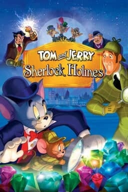 Tom and Jerry Meet Sherlock Holmes - Tom & Jerry in top had and naturalist looking into round sphere