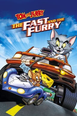 Tom and Jerry: The Fast and the Furry - Tom & Jerry racing on race track with large and small behicl
