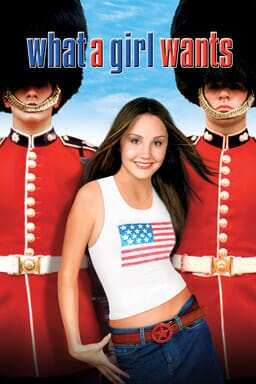 What a Girl Wants - Amanda Bynes with jeans and a white tank with American flag and British soldiers