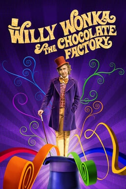 Willy Wonka & The Chocolate Factory - Gene Wilder as Willy Wonka with a purple suit, orange top hat