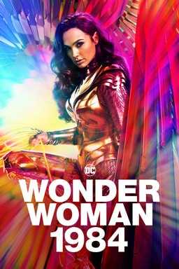 Wonder Woman 1984 - Rainbow feathered effect with Wonder Woman in golden armor