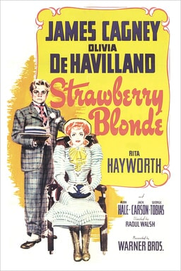 james cagney and olivia de havilland star in the strawberry blonde