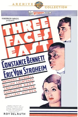 Three Faces East keyart