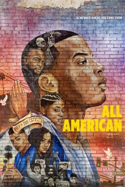 All American: Season 3 - Daniel Ezra starring off on the right with cast below in a grafitti styled