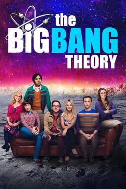 The Big Bang Theory cast on apartment couch on the surface of the moon