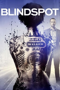 "View of Jaimie Alexander as Jane Doe from behind in bathtub with tattoos that read ""Kurt Weller"" on her back with Sullivan Stapleton as Kurt standing in the background"