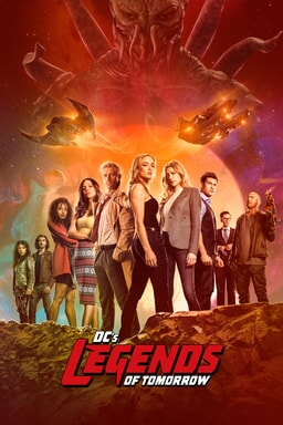 DC's Legends of Tomorrow: Season 6 - Cast on rocks with galaxy sky above looking intently