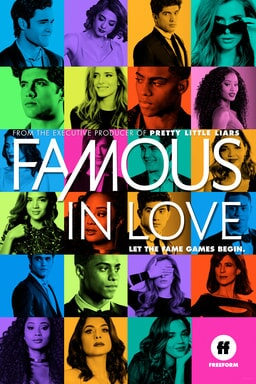 Season 2 cast of Famous in Love in colorful grid layout