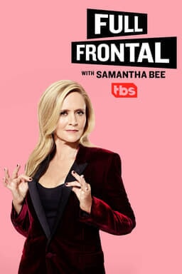 Full Frontal with Samantha Bee: Volume 14 - Samantha Bee in black and red jacket with pink backgroun