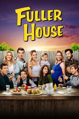 Fuller House: Season 4 - Family at an outdoor picnic backyard posing and eating together