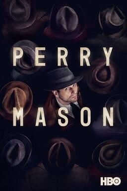 Perry Mason: Season 1 - Matthew Rhys as Perry Mason starring upwards with a sea of top hats