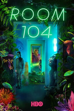 Room 104: Season 3 - Green foliage around hallway and a gorilla with green neon Room 104 sign