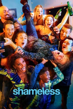 Shameless: Season 11 - William H. Macy as Frank Gallagher being carried upside down by young adults pouring liquor down his throat