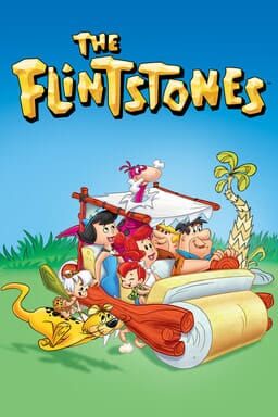 The Flintstones: The Complete Series - Riding in their makeshift car with cat and pineapple tree