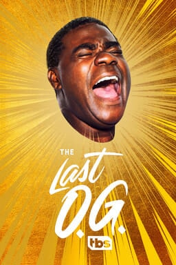 The Last O.G.: Season 3 - Head of Tracy Morgan as Tray Barker yelling with a yellow vector bg