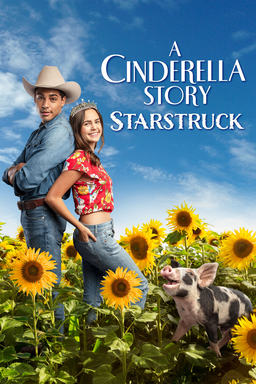 A Cinderella Story: Starstruck - Finley and Jackson standing back to back in a field of sunflowers