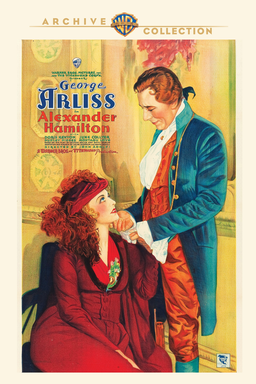 Alexander Hamilton (1931) - June Collyer and George Arliss in drawing of yellow green and blue