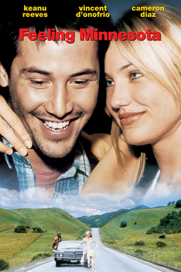 Feeling Minnesota - Keanu Reeves smilling with Cameron Diaz looking at him, Vincent d'onfrio