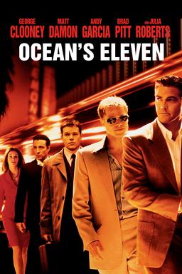 Ocean's Eleven - Julia Roberts, Andy Garcia, Matt Damon, Brad Pitt, George Clooney in a line