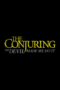 The Conjuring: The Devil Made Me Do It - Title treatment on black background