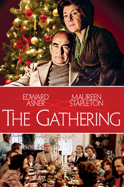 The Gathering (1977) - Edward Asner and Maureen Stapleton cozy up and below picture at dining table
