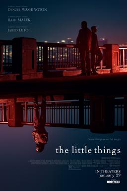 The Little Things - Denzel Washington, Jared Leto and Rami Malek on bridges flipped images