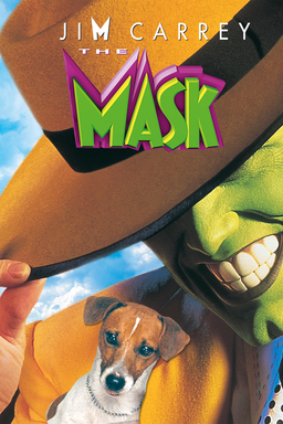 The Mask - Jim Carrey in green smiling with a brown fedora and a small dog