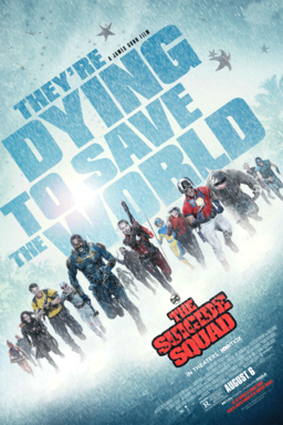 The Suicide Squad (2021) - They're dying to save the world- Cast running towards camera in blue mist
