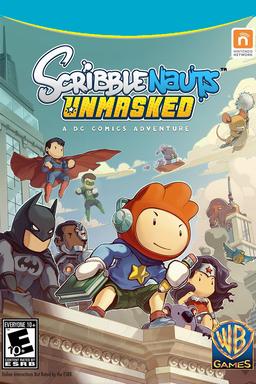 Scribblenauts Unmasked keyart