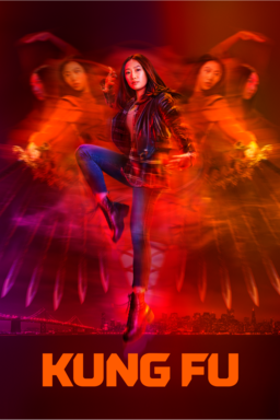 Kung Fu: Season 1 - Olivia Liang as Nicky Shen in kung fu pose on red background