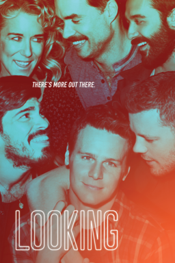 Looking: Season 2 - There's more out there - cast smiling and laughing with orange cast tint