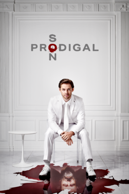 Prodigal Son: Season 2 - Tom Payne as Malcolm Bright in a white tuxedo and blood on the floor