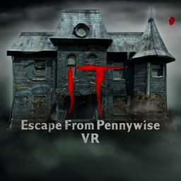 "Niebolt House with IT logo and ""Escape from Pennywise VR"" superimposed over"