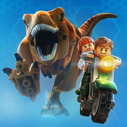 LEGO Jurassic World: Dinosaur chasing heroes on motorcycle