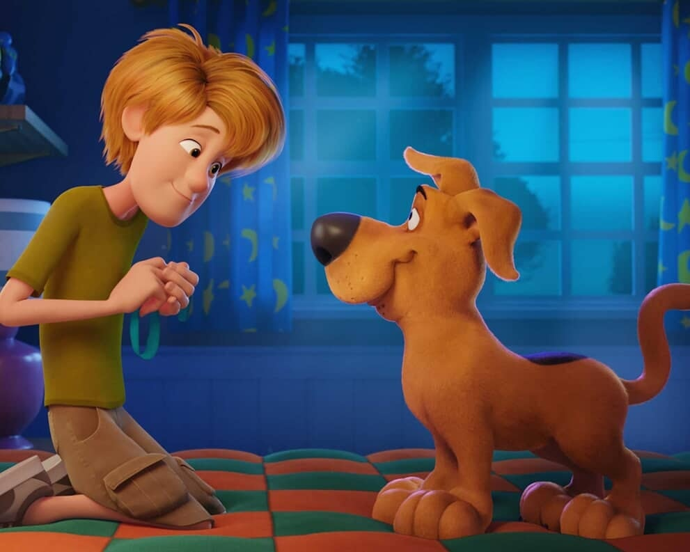 """SCOOB!"" - Shaggy giving Scooby-Doo his collar"